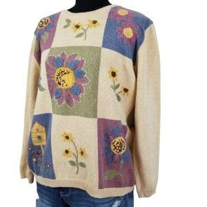 Vintage plus size 1X patchwork sweater